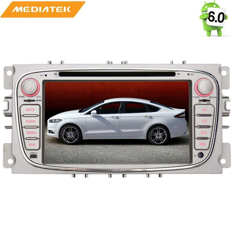 Штатная магнитола для Ford Focus II 2008-2011, C-Max, S-Max, Galaxy, Mondeo LeTrun 1412 Android 6.0.1 7 дюймов (4G LTE 2GB) lot of 10pcs unlocked aircard ac790s 4g mobile hotspot sierra wireless lte cat6 300m portable wifi router plus 49dbi 4g antenna