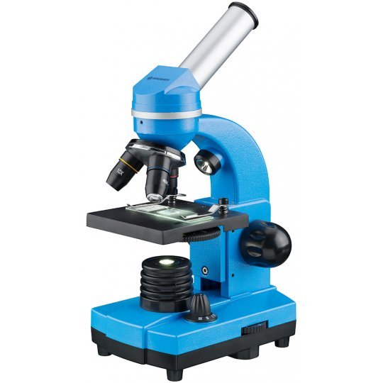 Фото - Микроскоп Bresser Junior Biolux SEL 40–1600x, синий (+ Книга «Невидимый мир» в подарок!) микроскоп bresser erudit dlx 40–600x