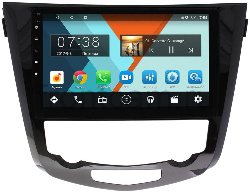 Штатная магнитола Nissan Qashqai II 2014-2017, X-Trail III (T32) 2015-2019 Wide Media MT1009MF-2/16 для авто без navi и 360 на Android 7.1.1 (+ Камера заднего вида в подарок!)