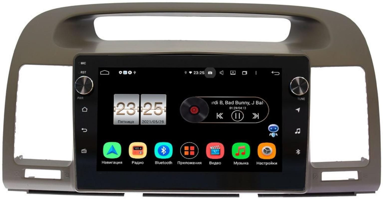 Штатная магнитола Toyota Camry V30 2001-2006 LeTrun BPX409-9105 на Android 10 (4/32, DSP, IPS, с голосовым ассистентом, с крутилками) (+ Камера заднего вида в подарок!)