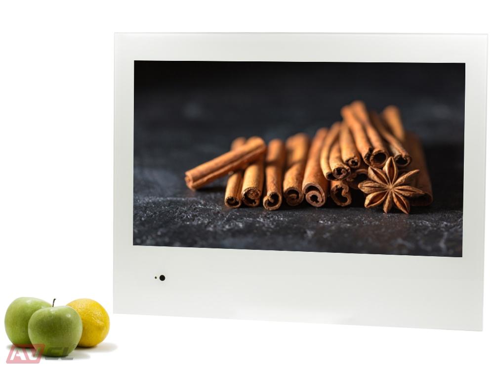 Встраиваемый телевизор для кухни AVS240K (белая рамка)
