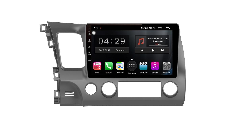 Штатная магнитола FarCar s300-SIM 4G для Honda Civic на Android (RG044R) (+ Камера заднего вида в подарок!)