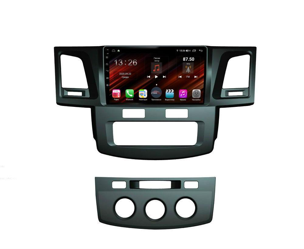 Штатная магнитола FarCar s400 Super HD для Toyota Hilux 2012+ на Android (XH143R) (+ Камера заднего вида в подарок!)