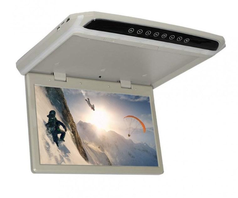 Автомобильный потолочный монитор 15.6 со встроенным Full HD медиаплеером ERGO ER154FH (+ Двухканальные наушники в подарок!)