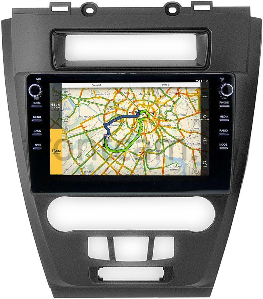 Штатная магнитола Ford Fusion 2006-2012 LeTrun 3149-10-296 на Android 10 (DSP 2/16 с крутилками) (+ Камера заднего вида в подарок!)
