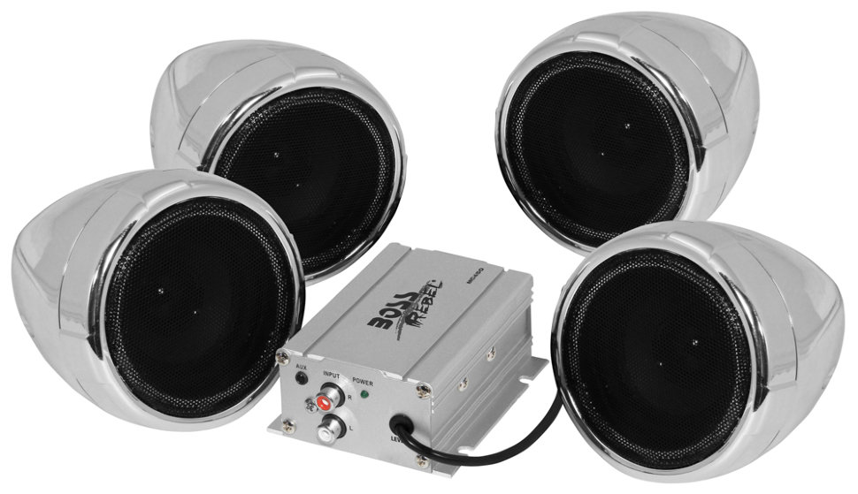 Акустическая система Boss Audio MC450 (4 динамика 3, 1000 Вт.) аудиосистема boss audio marine mc520b 2 динамика 3 600 вт usb sd fm bluetooth