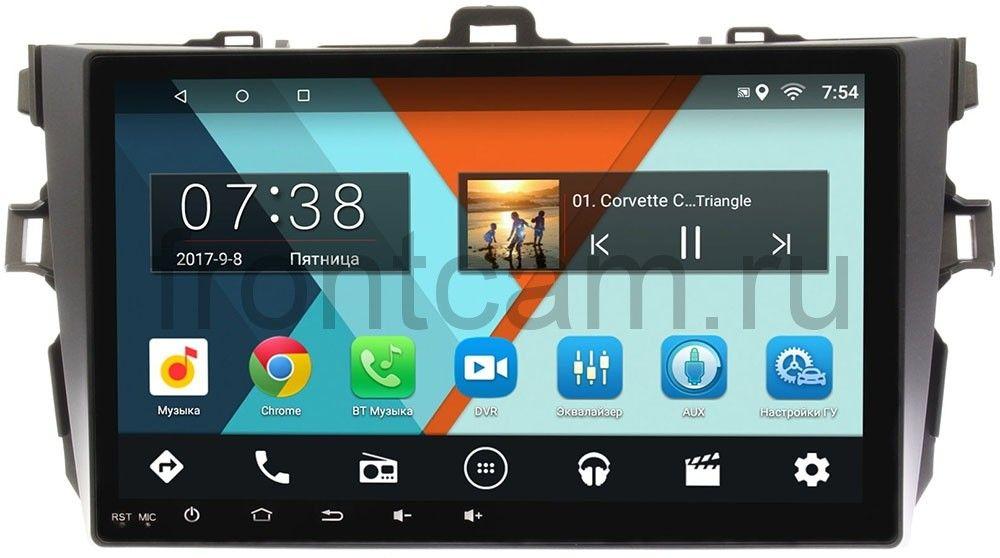 Штатная магнитола Wide Media MT9038MF-2/16 для Toyota Corolla X 2006-2013 на Android 7.1.1 (+ Камера заднего вида в подарок!)