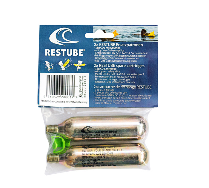 Restube Spare cartridges (2x) баллоны с газом restube spare cartridges 2x