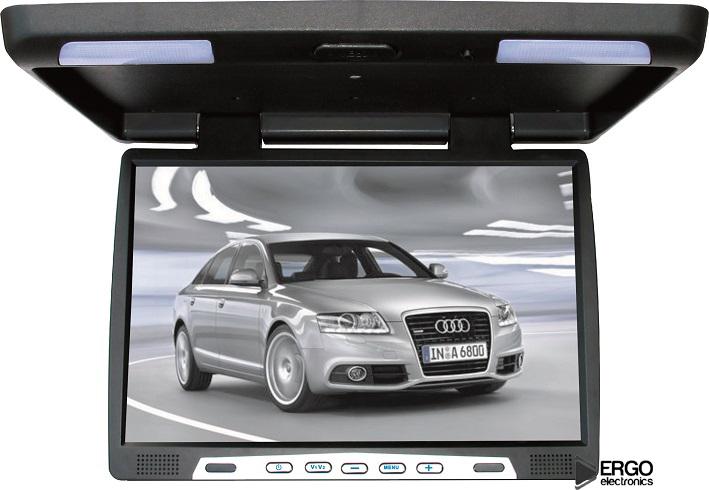 Фото - Автомобильный потолочный монитор 22 ERGO ER22H (черный) (+ Двухканальные наушники в подарок!) подарок первокласснику