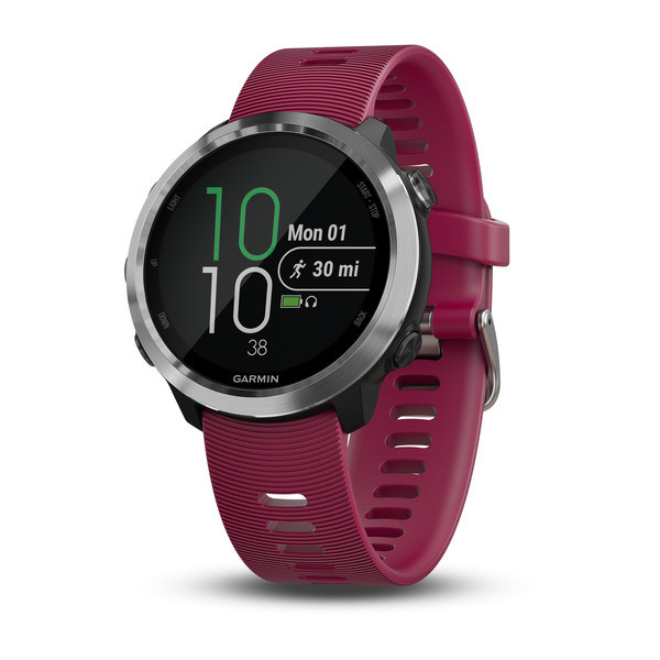 Garmin Forerunner 645 Music с вишневым ремешком garmin forerunner 10 black red garmin
