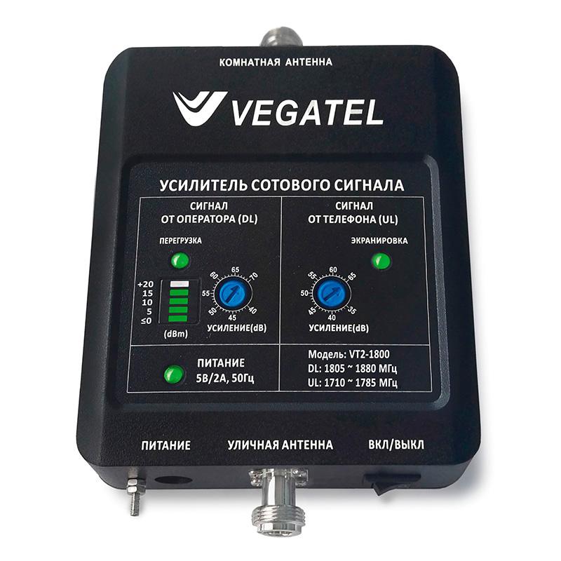 Усилитель сигнала сотовой связи (репитер) VEGATEL VT2-1800 (LED) цена и фото