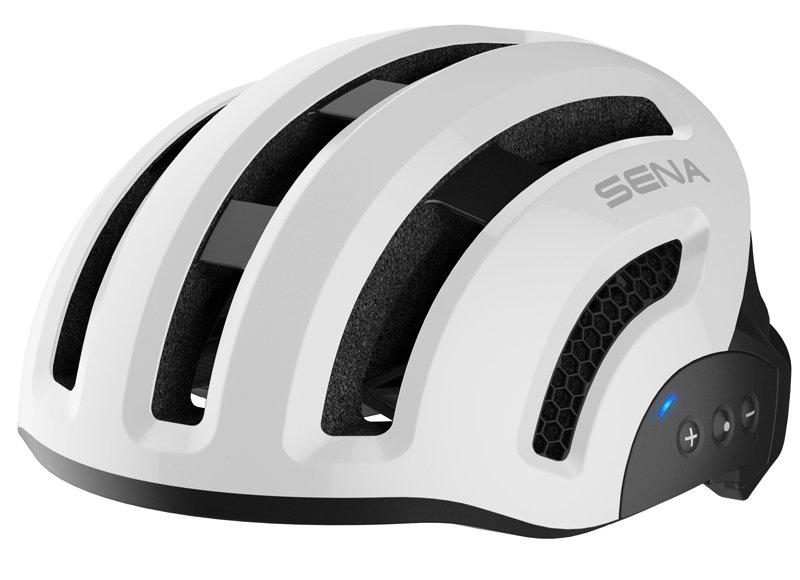 Велошлем со встроенной гарнитурой SENA SMART X1 (БЕЛЫЙ)