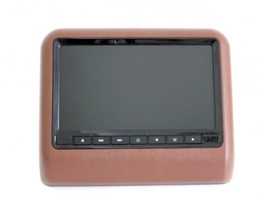 Навесной монитор ERGO ER9L Brown (USB, SD, DVD) (+ Двухканальные наушники в подарок!)