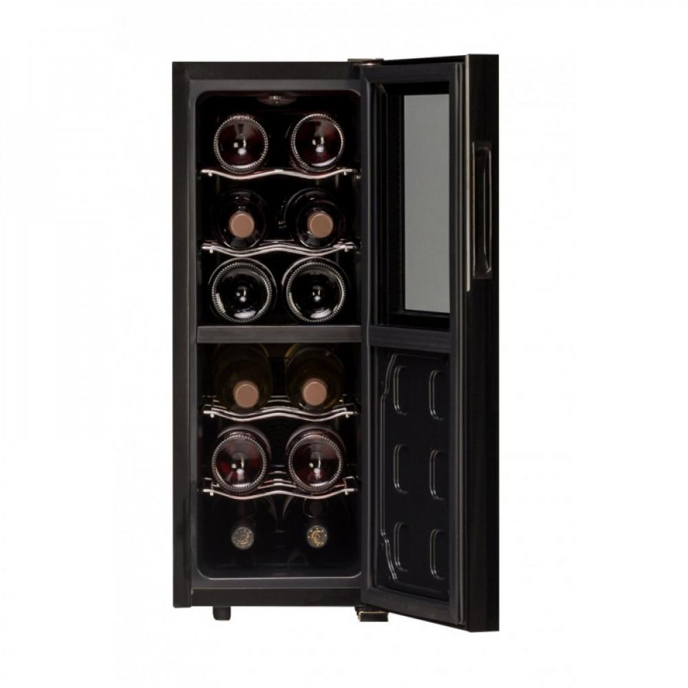 Термоэлектрический винный шкаф Dunavox DAT-12.33DC(2 зоны)