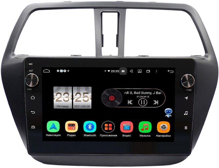 Штатная магнитола LeTrun BPX609-9217 для Suzuki SX4 II 2013-2021 на Android 10 (4/64, DSP, IPS, с голосовым ассистентом, с крутилками) (+ Камера заднего вида в подарок!)