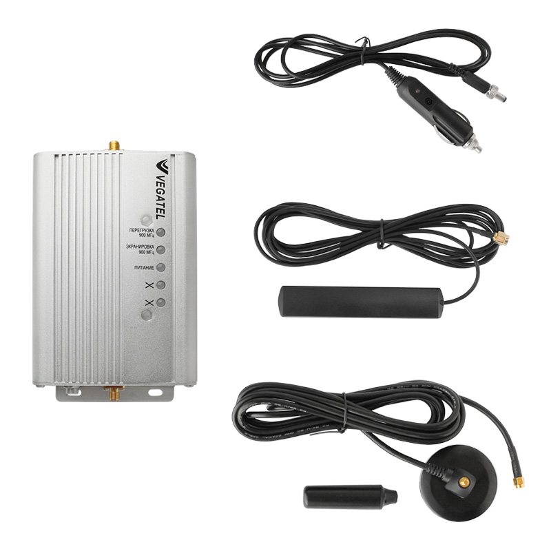 Усилитель сотовой связи и интернета в автомобиле VEGATEL AV1-900E-kit