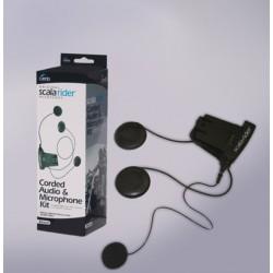 Крепление с микрофоном на проводе 250 мм с МР3-разъемом мотогарнитура scala rider freecom 1