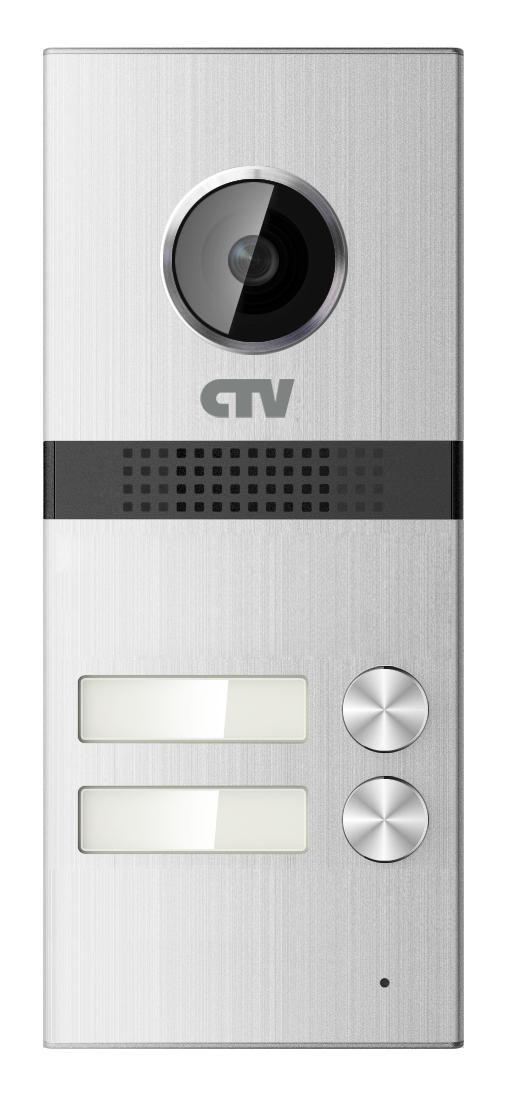 Вызывная панель для видеодомофонов на 2 абонента CTV-D2MULTI (серебристый) вызывная панель для видеодомофонов ctv d3001 серебристый