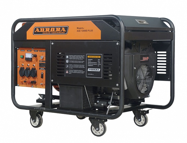 цена на Бензогенератор Aurora AGE 12000 D PLUS