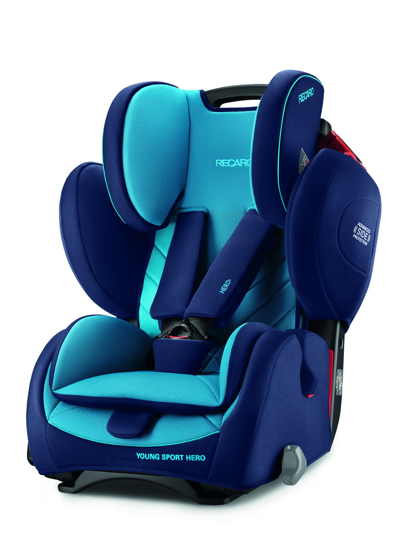 Фото - Автокресло Recaro Young Sport Hero Xenon Blue (+ Солнцезащитные шторки в подарок!) автокресло группа 1 2 3 9 36 кг recaro young sport hero prime sky blue