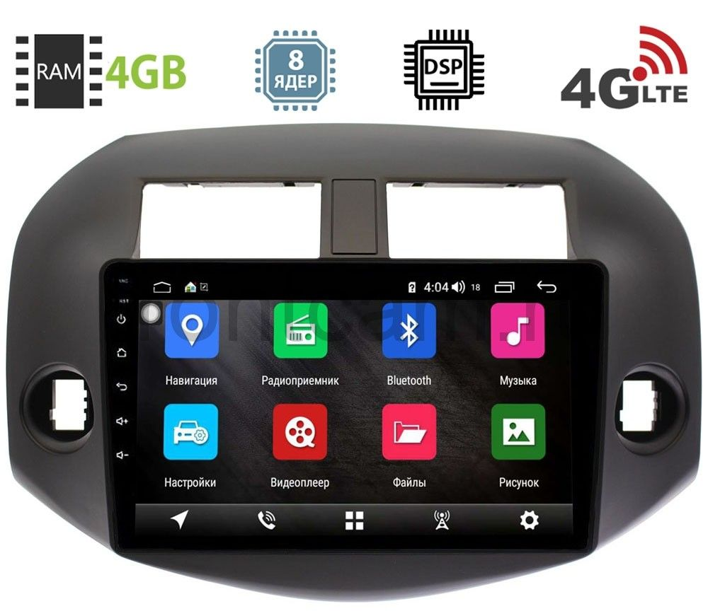 Штатная магнитола Toyota RAV4 (XA30) 2006-2013 LeTrun 2441-2943 на Android 8.1 (8 ядер, 4G SIM, DSP, 4GB/64GB) 1001 (+ Камера заднего вида в подарок!)