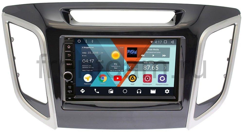Штатная магнитола Wide Media WM-VS7A706-OC-2/32-RP-HDI25N-111 для Hyundai Creta 2016-2019 Android 8.0 (+ Камера заднего вида в подарок!) штатная магнитола carmedia qr 9104 t8 hyundai sonata yf 2010 2013 на oc android 7 1 2 камера заднего вида