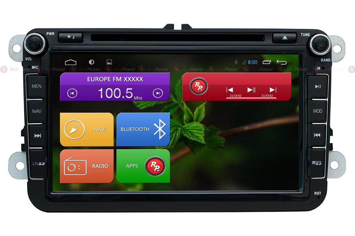 Штатная магнитола RedPower 31004 DVD IPS для Volkswagen, Skoda штатная магнитола redpower 31004 ips volkswagen 8 дюймов
