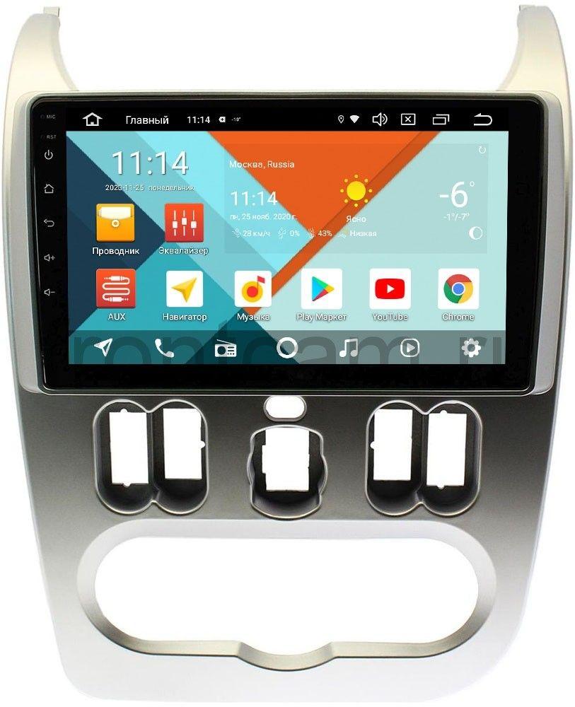 Штатная магнитола Renault Logan I 2010-2013, Sandero I 2009-2014 Wide Media KS9181QR-3/32 DSP CarPlay 4G-SIM Android 10 (+ Камера заднего вида в подарок!)