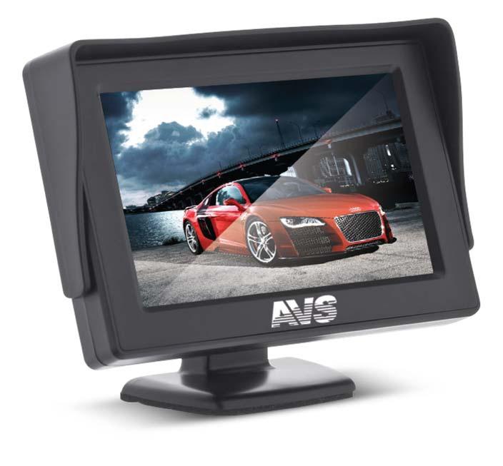 """Парковочный монитор 4.3 AVS PS-801Автомобильные мониторы<br>Монитор парковочной системы с солнцезащитным козырком и классическим дизайном!<br>Диагональ: 4,3"""".<br>Видеосистема: NTSC/PAL.<br>Система цветопередачи RGB.<br>2-а x видеовхода (RCA).<br>Питание: 12В.<br>Диапазон температур: -20°С~ +70°С.<br>Автоматическое включение при появлении видеосигнала.<br>Регулировка угла наклона, крепление на 3M-скотч.<br>Вес 250 г."""