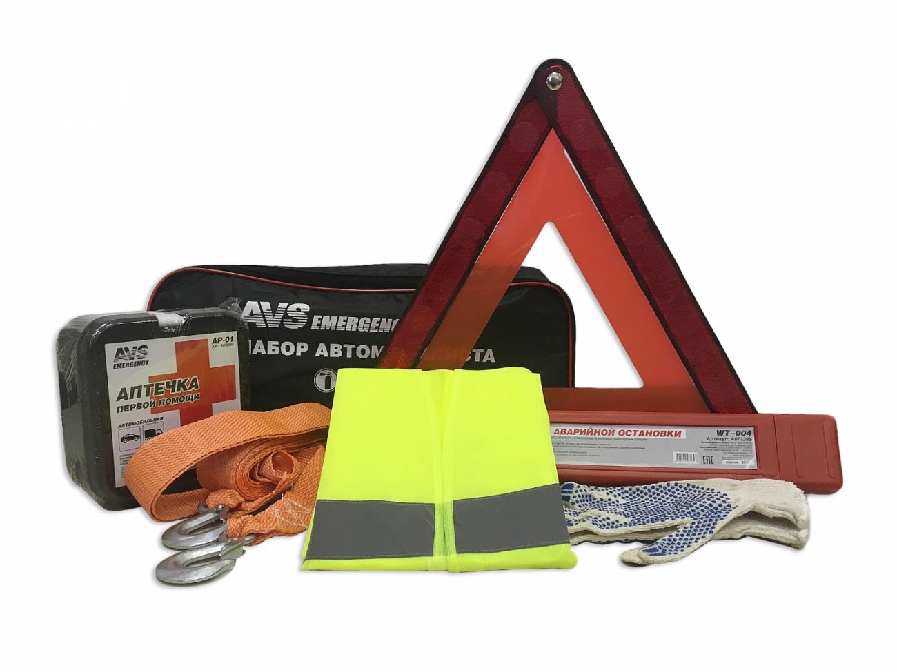 все цены на Набор автомобилиста AVS Emergency AN-01 (6 предм.) онлайн