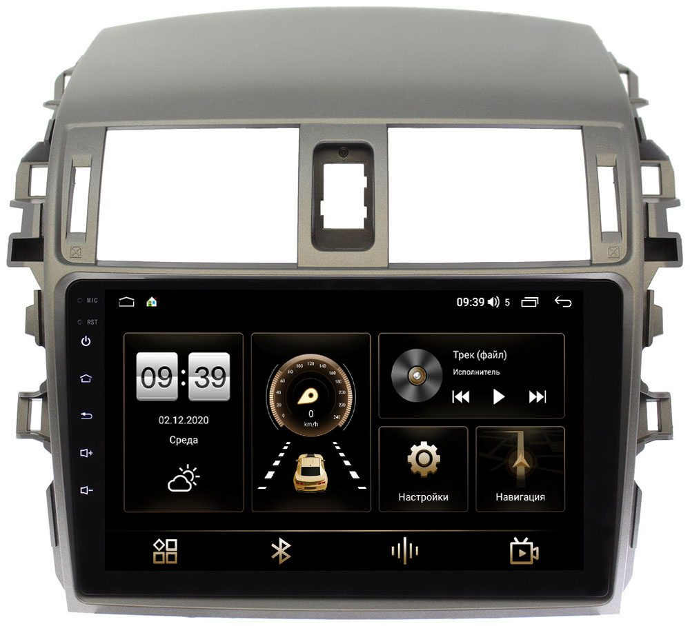 Штатная магнитола LeTrun 4196-9061 для Toyota Corolla X 2006-2013 на Android 10 (6/128, DSP, QLed) С оптическим выходом (+ Камера заднего вида в подарок!)