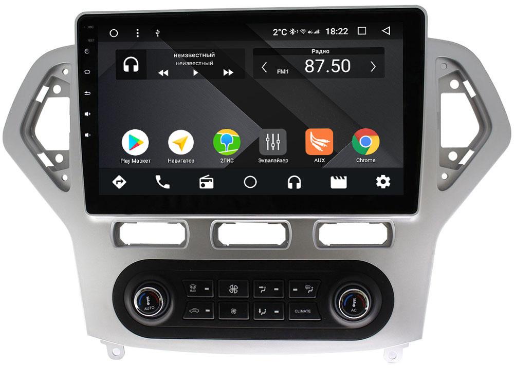 Штатная магнитола Ford Mondeo IV 2007-2010 Wide Media CF1016-OM-4/64 для авто с климат-контролем на Android 9.1 (TS9, DSP, 4G SIM, 4/64GB) (+ Камера заднего вида в подарок!)