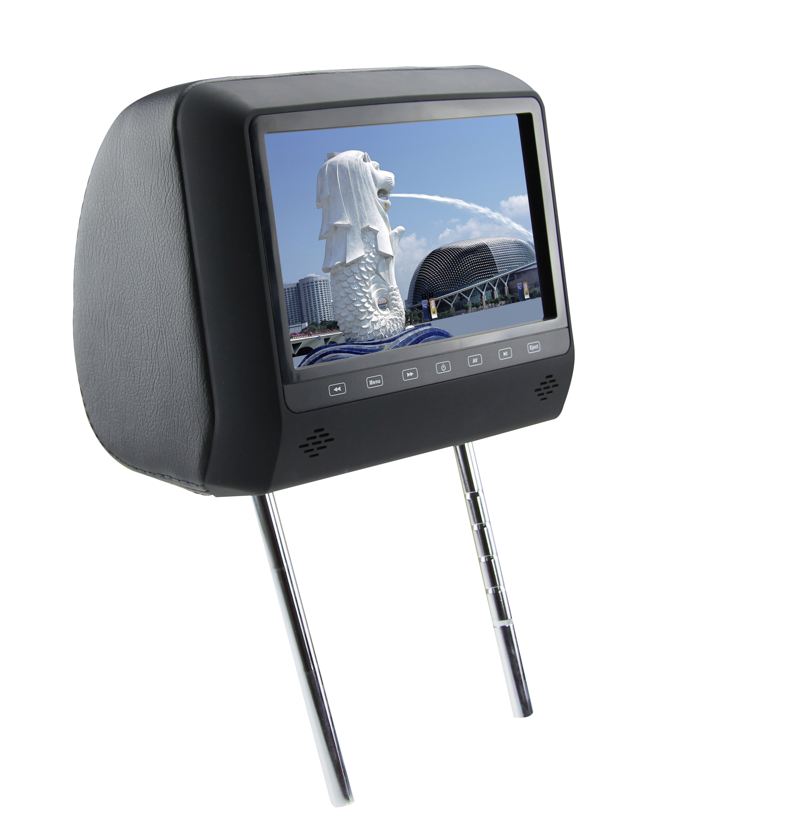 Подголовник с монитором 7 и встроенным DVD плеером FarCar-Z006 (Biege) (+ Двухканальные наушники в подарок!)