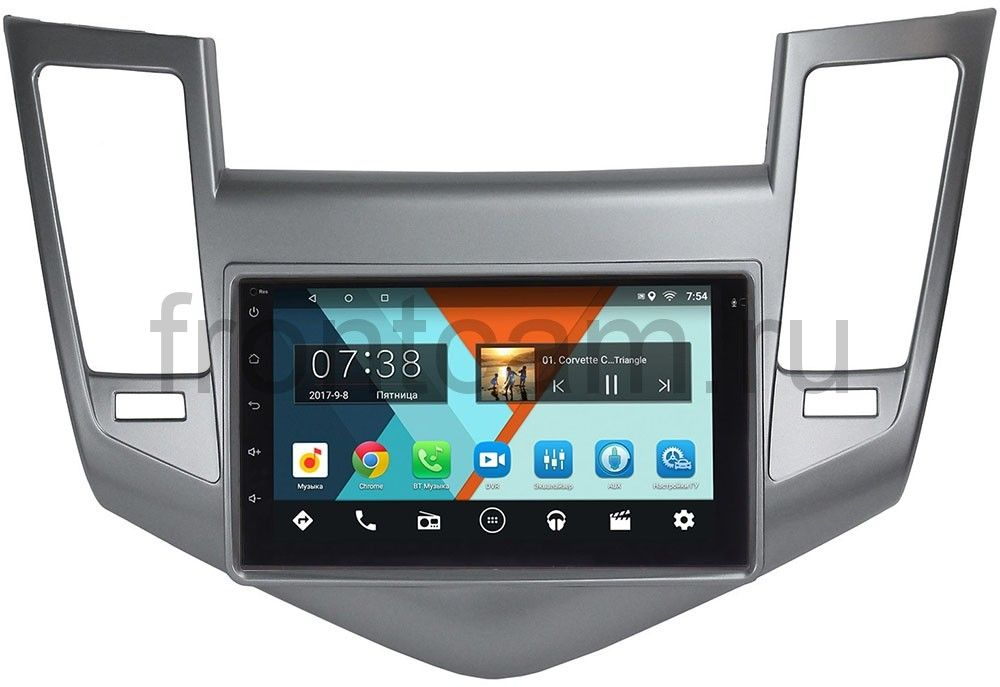 Штатная магнитола Wide Media MT7001-RP-CVCRB-55 для Chevrolet Cruze I 2009-2012 на Android 7.1.1 (+ Камера заднего вида в подарок!)