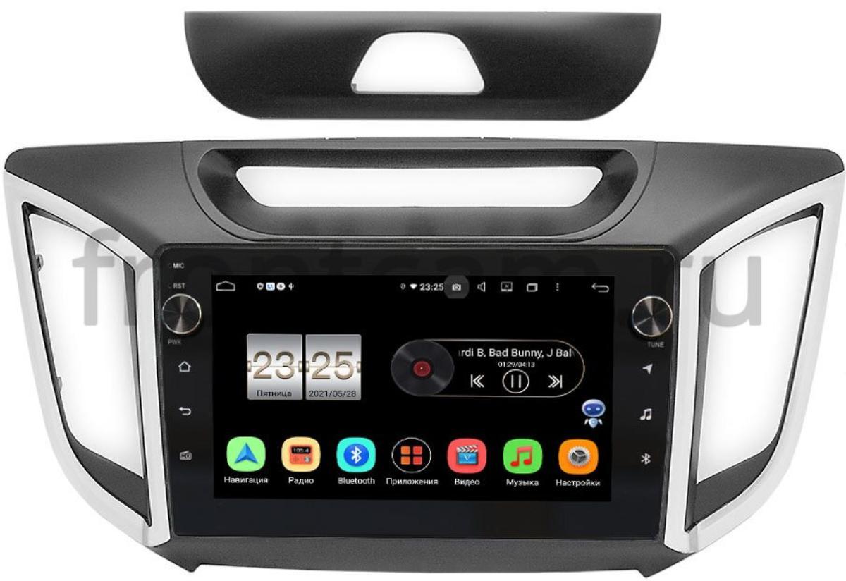 Штатная магнитола Hyundai Creta 2016-2021 LeTrun BPX609-949 на Android 10 (4/64, DSP, IPS, с голосовым ассистентом, с крутилками) (+ Камера заднего вида в подарок!)