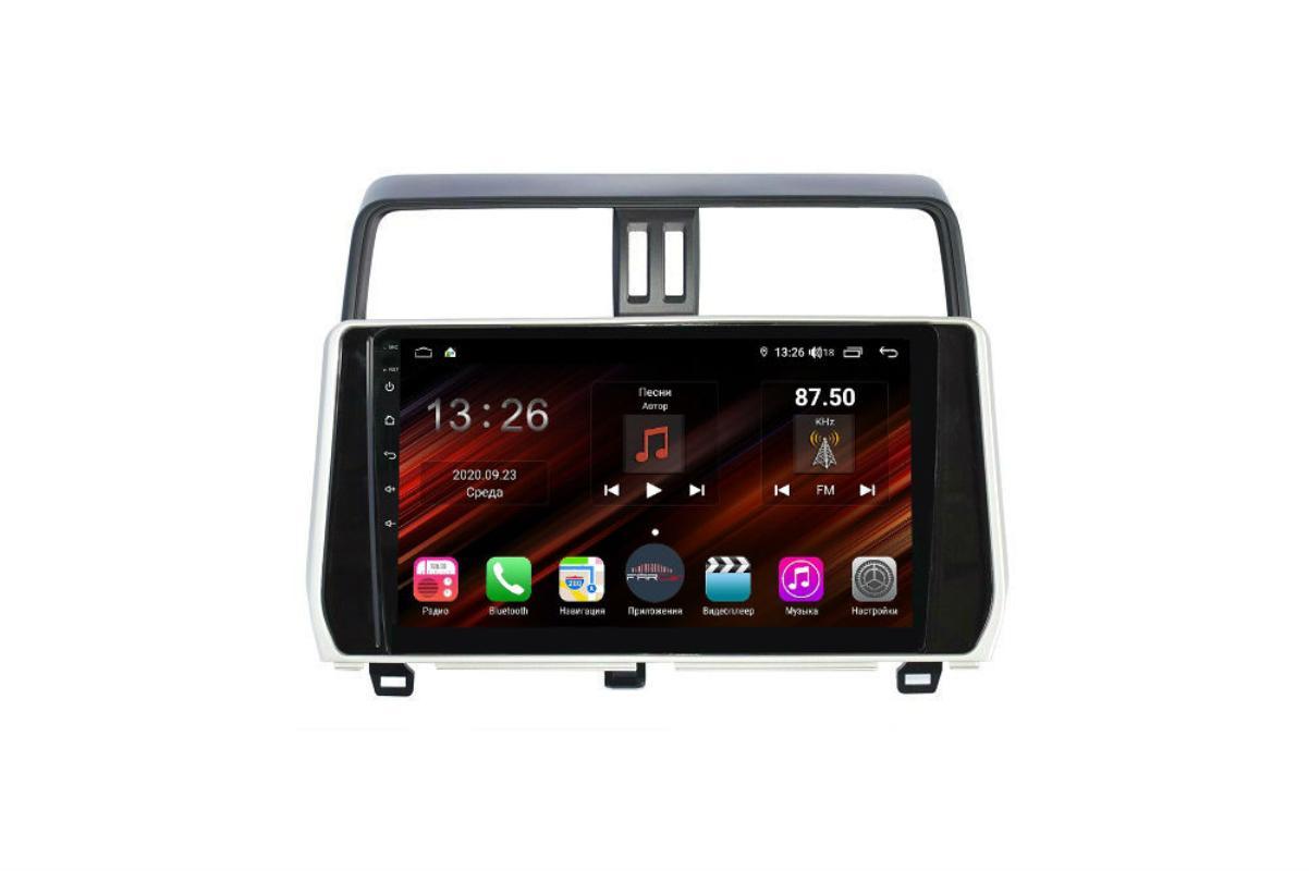 Штатная магнитола FarCar s400 Super HD для Toyota Land Cruiser Prado 150 на Android (XH1053R) (+ Камера заднего вида в подарок!)