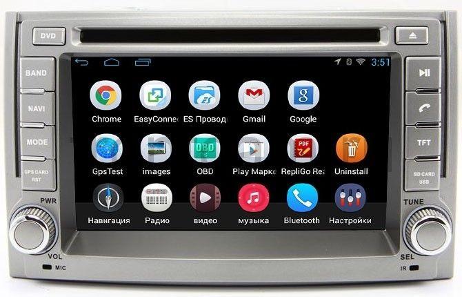 Штатная магнитола Hyundai H1 Starex II 2007-2016 LeTrun 1953 на Android 4.4 MTK штатная магнитола letrun 1867 для kia sportage 2010 2016 android 6 0 1
