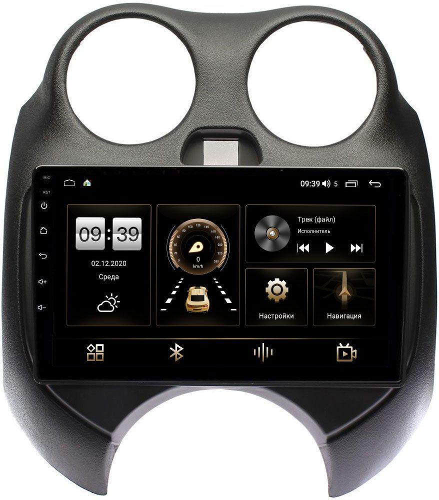 Штатная магнитола LeTrun 4196-9100 для Nissan March IV (K13) 2010-2013 на Android 10 (6/128, DSP, QLed) С оптическим выходом (+ Камера заднего вида в подарок!)