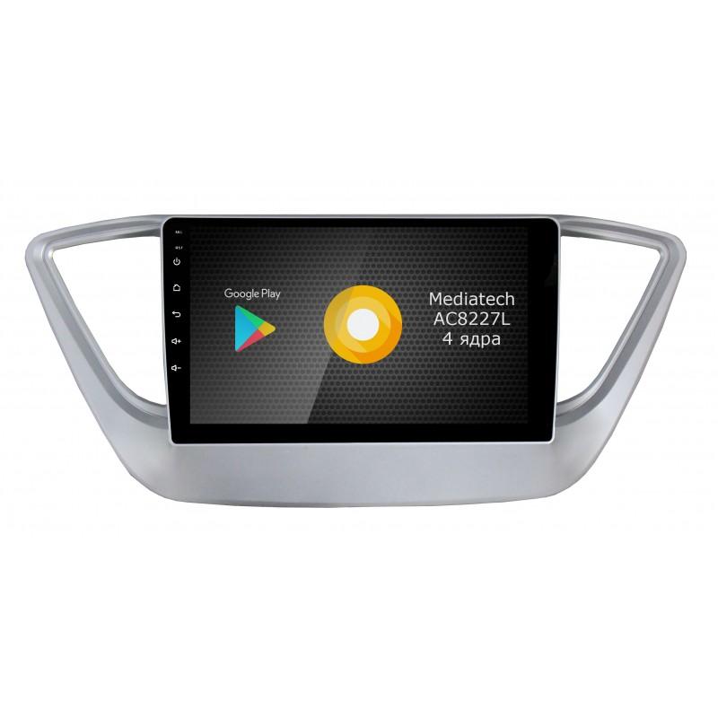 Штатная магнитола Roximo S10 RS-2011-N17 для Hyundai Solaris 2017 (Android 9.0) (+ Камера заднего вида в подарок!)