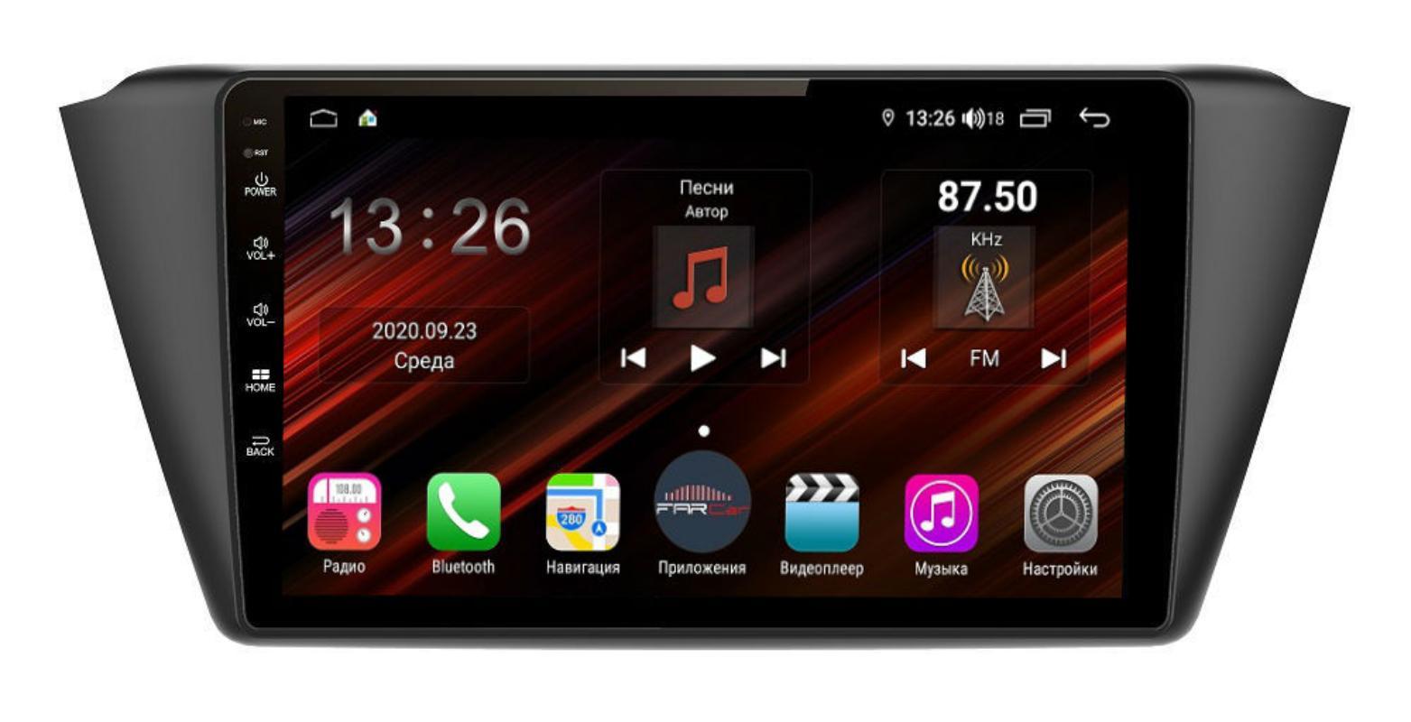 Штатная магнитола FarCar s400 Super HD для Skoda Fabia на Android (XH2002R) (+ Камера заднего вида в подарок!)