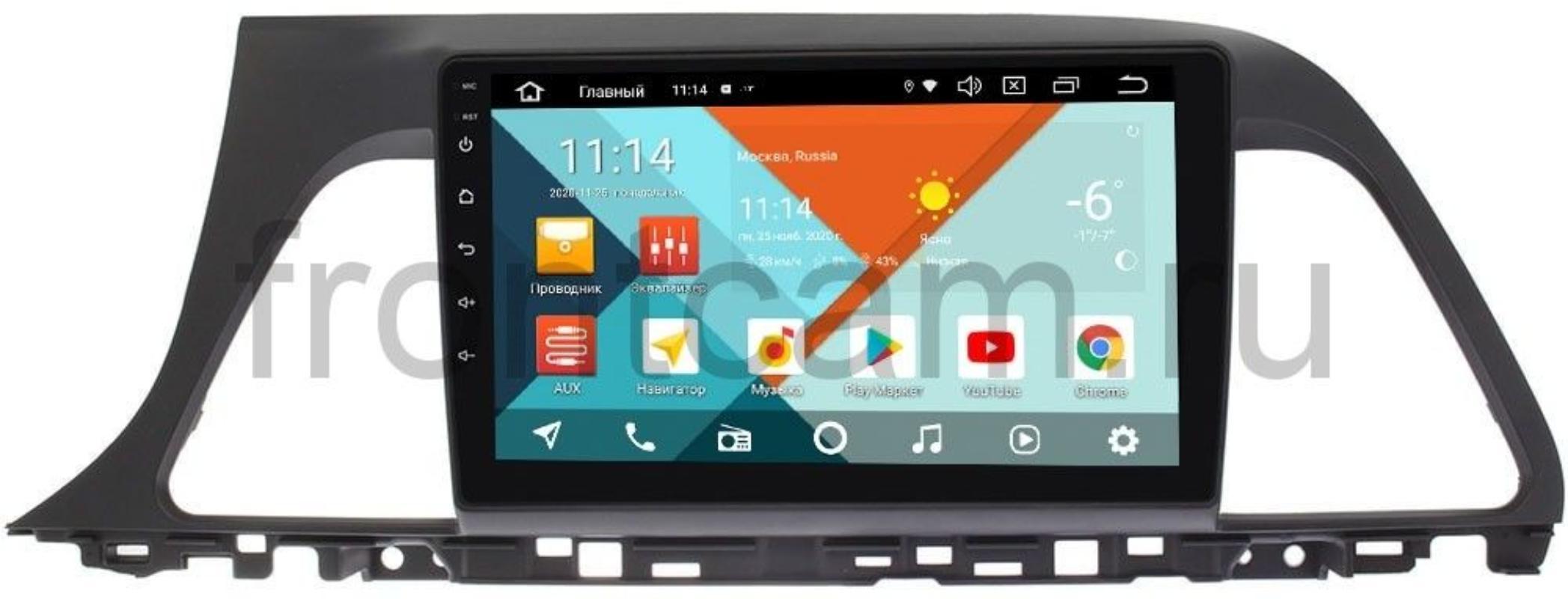 Штатная магнитола Hyundai Sonata VII (LF) 2014-2017 Wide Media KS9040QM-2/32 DSP CarPlay 4G-SIM для авто без усилителя на Android 10 (+ Камера заднего вида в подарок!)