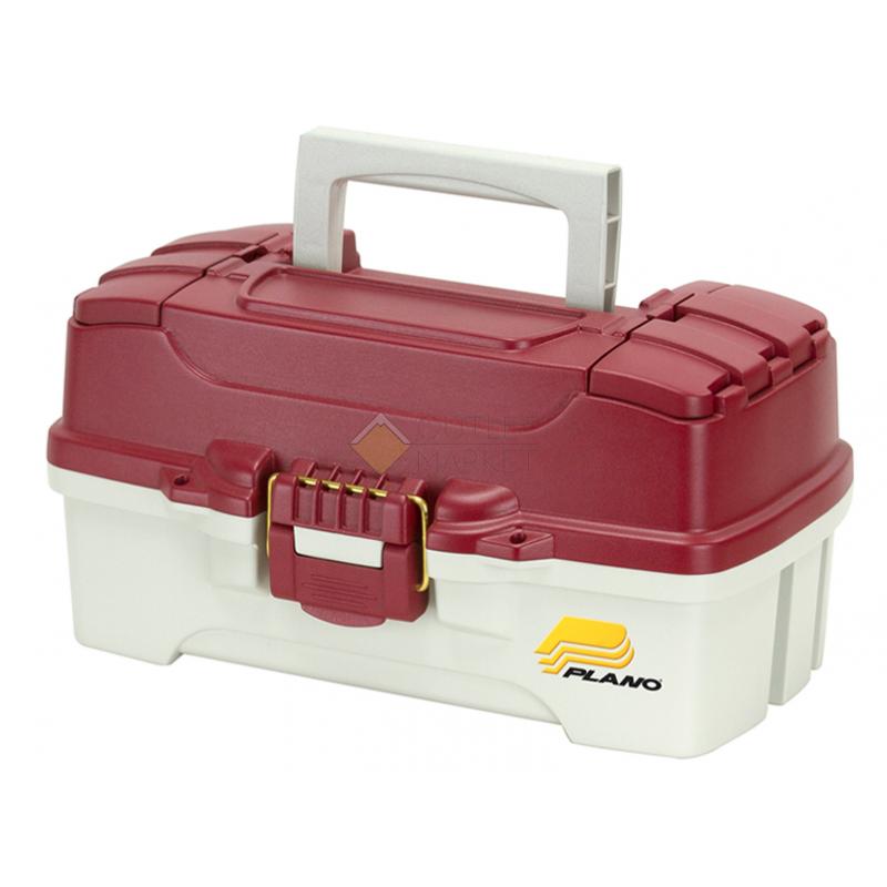 Ящик Plano 6201 с одноуровневой системой хранения приманок и двумя боковыми отсеками на крышке