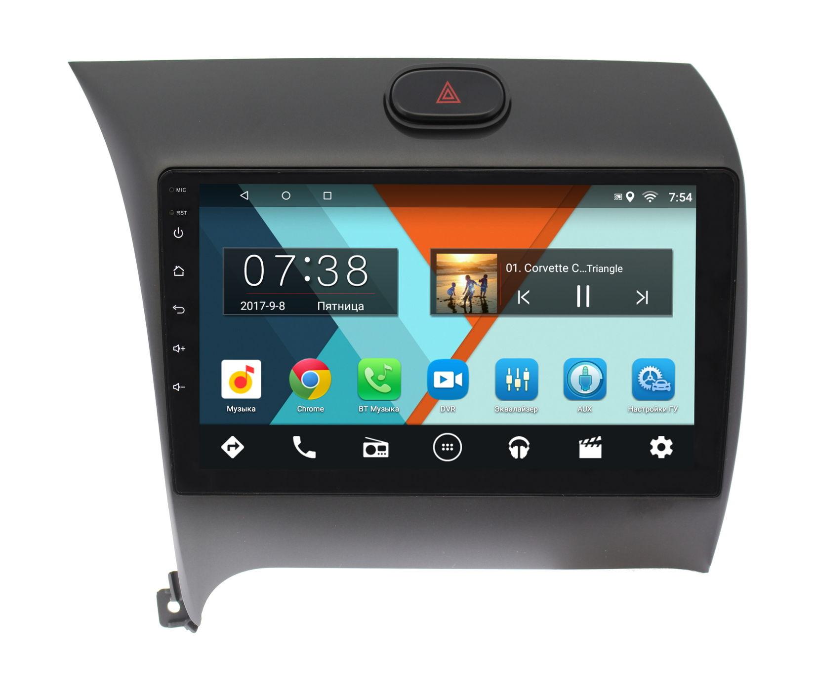 Штатная магнитола для Kia Cerato III 2013-2017 Wide Media MT9014MF Android 6.0.1 штатная магнитола для kia sportage iii 2010 2016 letrun 2020 android 6 0 1