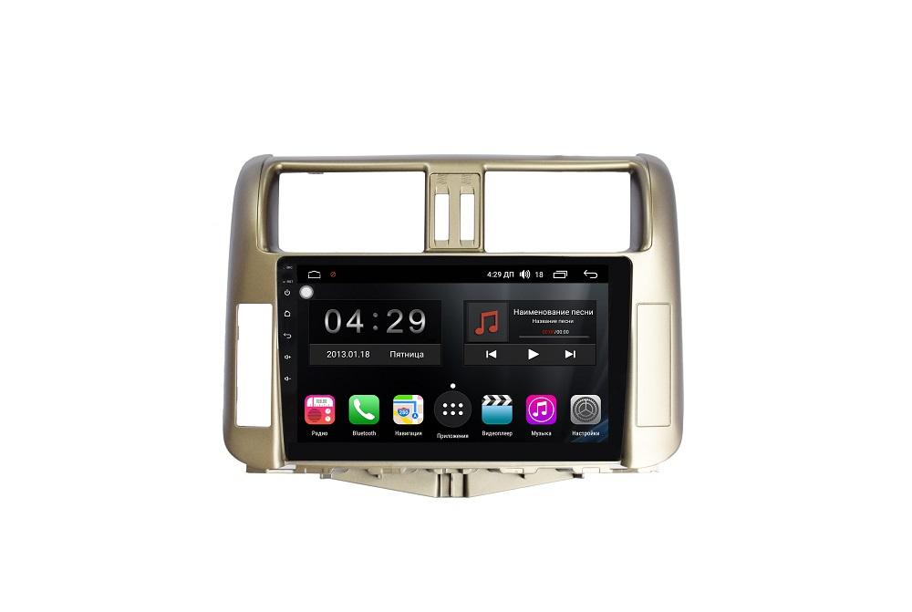 Штатная магнитола FarCar s200+ для Toyota Land Cruiser Prado 150 на Android (A065R) штатная магнитола carmedia mkd 1040 dvd toyota land cruiser prado 150 2013 2016 поддержка кругового обзора