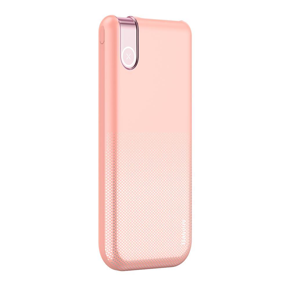 Фото - Внешний аккумулятор Baseus Thin Version Wireless Charge Power Bank 10000 mAh розовый (PPALL-QY04) аккумулятор