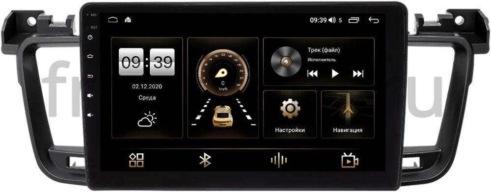 Штатная магнитола LeTrun 4166-9-271 для Peugeot 508 I 2011-2018 на Android 10 (4G-SIM, 3/32, DSP, QLed) (+ Камера заднего вида в подарок!)