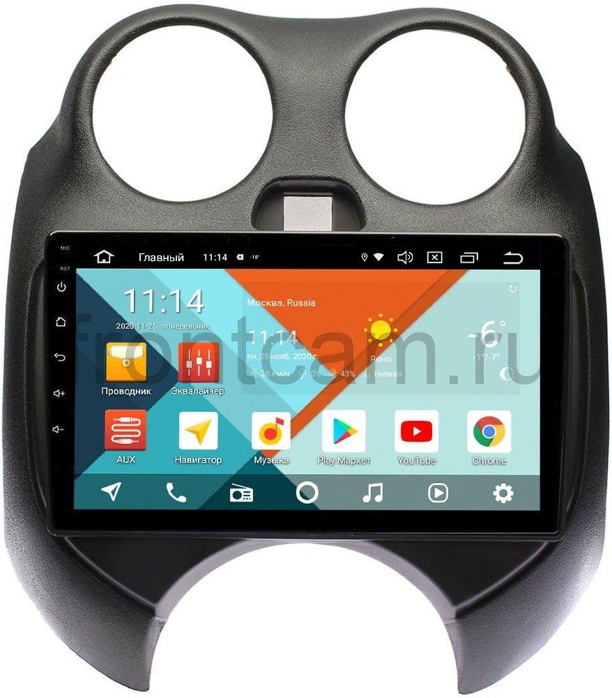 Штатная магнитола Nissan March IV (K13) 2010-2013 Wide Media KS9100QM-2/32 DSP CarPlay 4G-SIM на Android 10 (+ Камера заднего вида в подарок!)