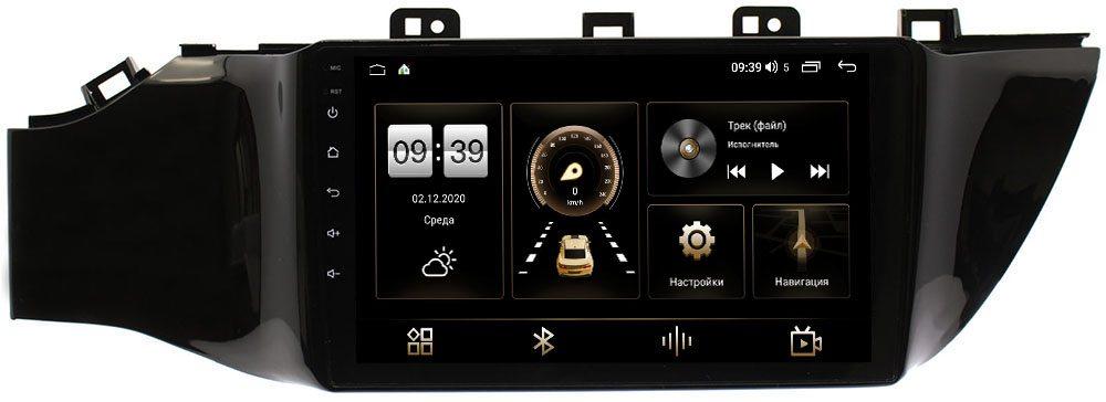 Штатная магнитола LeTrun 4166-9078 Android 10 (4G-SIM, 3/32, DSP, QLed) (без кнопки) для Kia Rio IV, Rio IV X-Line 2017-2019 (+ Камера заднего вида в подарок!)