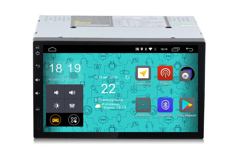 Универсальная магнитола 2Din PARAFAR 4G/LTE (178*100) Android 7.1.1 (PF002)