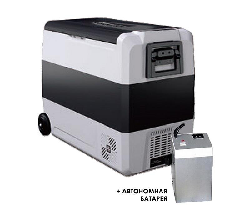 Компрессорный автохолодильник Alpicool T60 с внешней батареей (+ Шесть аккумуляторов холода в подарок!)